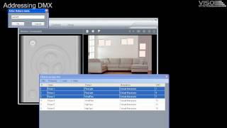 setup dmx address and rdm viso systems