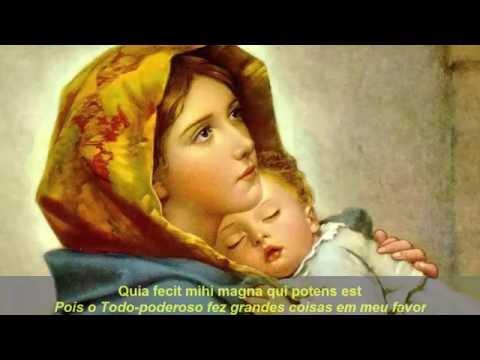 Magnificat anima mea Dominum - Canto Gregoriano LEGENDADO. Gregorian Chant. Latim subtitles.