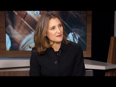 Freeland Discusses Her Goals As Canada's Deputy Prime Minister