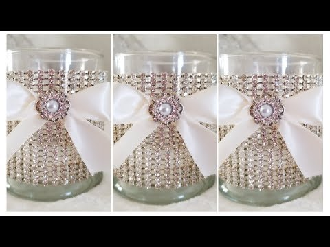 DIY | GLAM CANDLE HOLDER DECOR | QUICK AND EASY DIY | WEDDING DECOR 2019