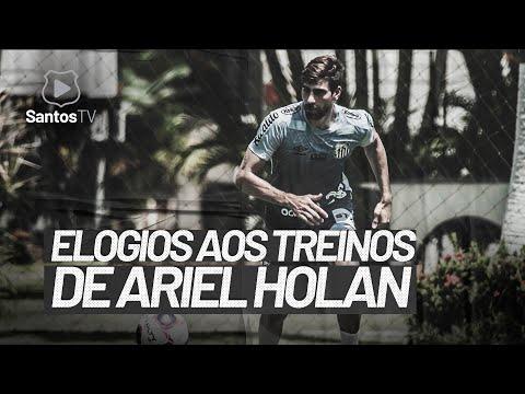 LUAN PERES ELOGIA TREINOS DE ARIEL HOLAN NO SANTOS