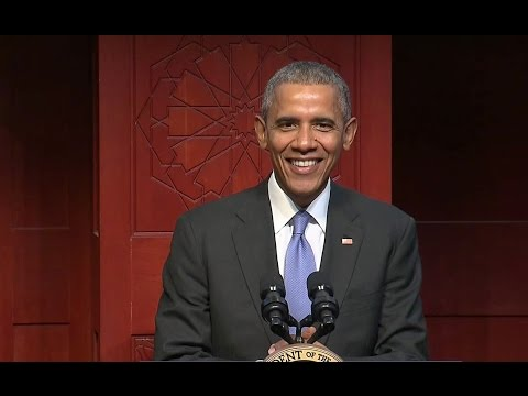 The President Speaks at the Islamic...