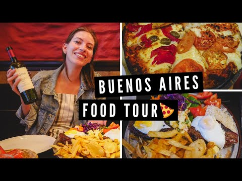 Buenos Aires FOOD TOUR 😋 | Eating STEAK, PIZZA + MILANESA Before Leaving Argentina ✈️