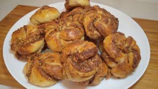 Ароматные БУЛОЧКИ с корицей и орехами/ формирую дрожжевое тесто / рецепты   PIONA