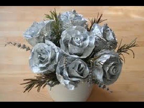 Manualidades con papel aluminio 7 youtube - Youtube manualidades de papel ...