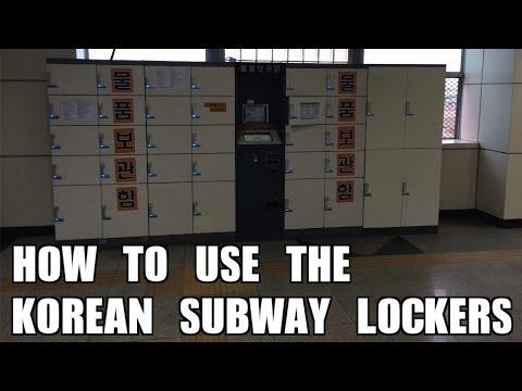 How To Use Korean Subway Lockers