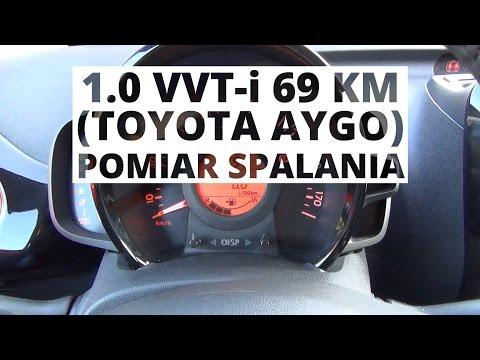 Toyota Aygo 1.0 VVT-i 69 KM - pomiar spalania