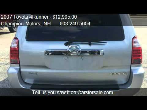 2007 toyota 4runner sr5 4dr suv 4wd for sale in amherst for Champion motors amherst nh