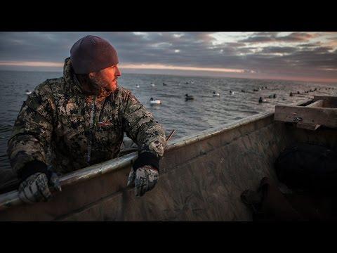 Diver Duck Hunting On Green Bay, Lake Michigan