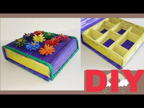 How to make a DIY storage box using newspaper ||  Newspaper craft || IRIS Craft Corner 18