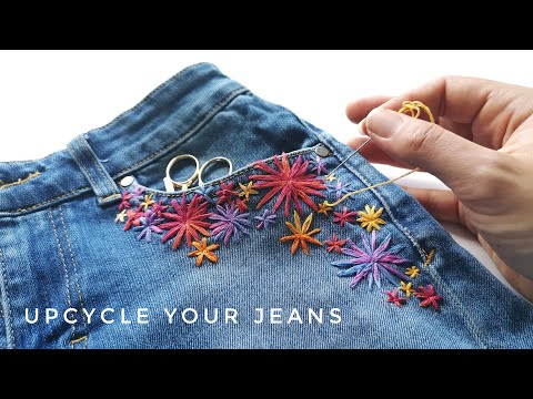 Upcycle Your Jeans with Modern Hand Embroidery (DIY PROJECT!)