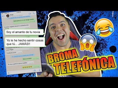 BROMA TELEFÓNICA CON LETRA DE CANCIÓN TERMINA MAL | EL AMANTE DE Nicky Jam