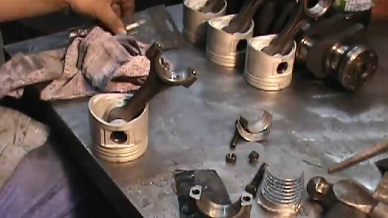 Reparar Motor Ajuste De Biela Youtube