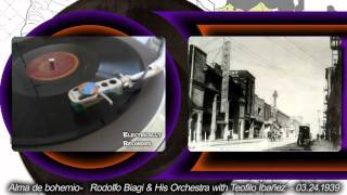 Rodolfo Biagi and his Orchestra with Teofilo Ibañez - Alma de bohemia - 1939