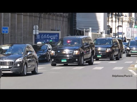 Police motorcycle  escort, the FBI director in Paris.  (James B. Comey)