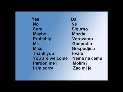 Learn Serbian #2 -Basic Words