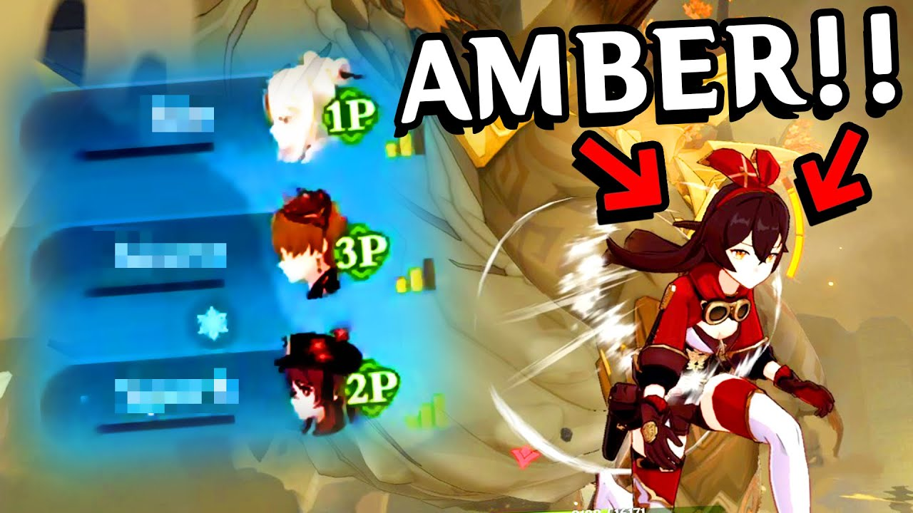 When People Let You Bring Amber Into Co-Op   Genshin Impact