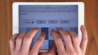 Typing at 102 WPM on a tablet (iPad) using ASETNIOP