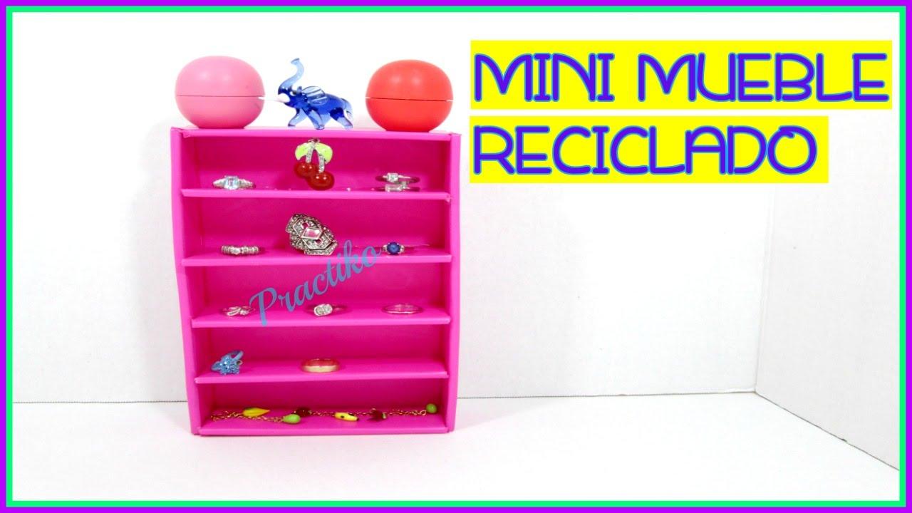 Como hacer mini mueble para guardar accesorios - Muebles para almacenar ...