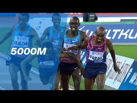 Mo Farah Wins His Last Race In An Epic 5000m Battle - IAAF Diamond League Zürich 2017
