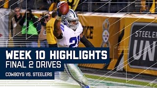 Every Play From the Cowboys vs. Steelers Final 2 Drives   Week 10 Highlights   NFL