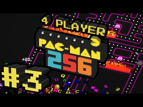 Pac-Man 256 - #3 - AMAZING HIGH SCORE!! 50k+ (4 Player Gameplay)