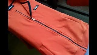 How to Sew a SEPARATING ZIPPER part 5 💎 Long sleeve raglan. Jak wszyć ekspres do bluzy