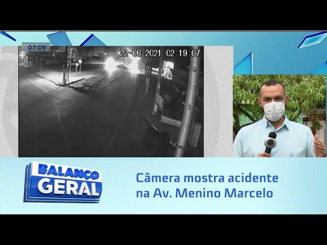Flagrante impressionante: Câmera mostra acidente na Av. Menino Marcelo