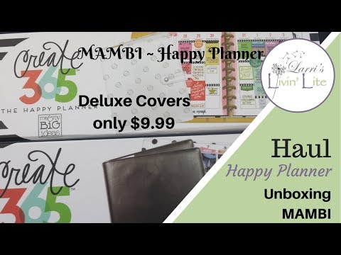 MAMBI Happy Planner Haul | Unboxing Deluxe...