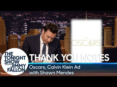 Thank You Notes: Oscars, Calvin Klein Ad with Shawn Mendes Mp3
