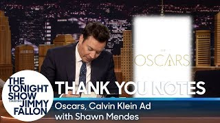 Thank You Notes: Oscars, Calvin Klein Ad with Shawn Mendes