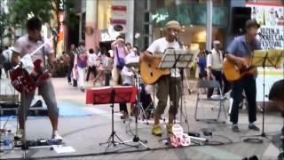 """Anatani / MONGOL800 Performed by """"Sansyoku-Pan"""" at """"Sendai Jozenji ..."""