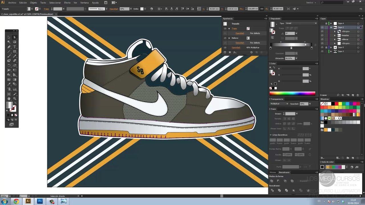 251 Mega 0 Niketutorial 0Zapatillas De Illustrator Curso Español Desde 70h 8wvNmn0