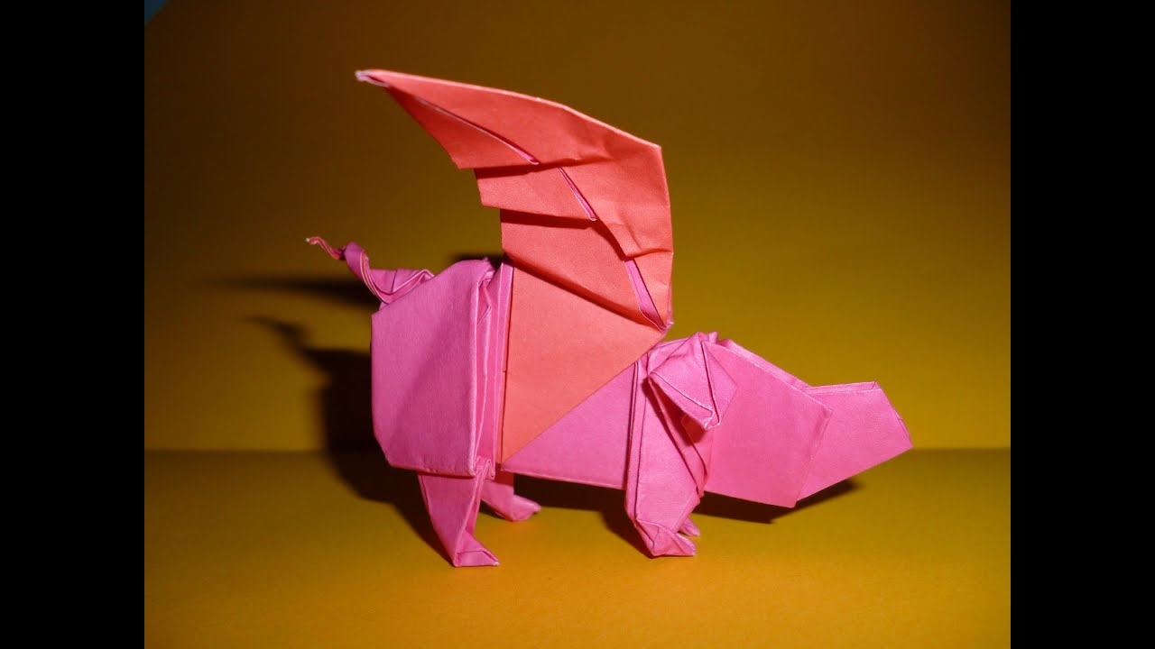Origami winged pig Instructions (Joseph Wu) - YouTube - photo#43