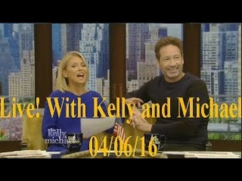 Live! With Kelly and Michael 04/06/16 Melissa McCarthy; Jon Favreau; co-host David Duchovny