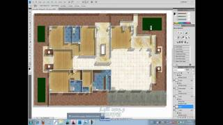 Transfer From Autocad To Adobe & Render Architecture Plan On Adobe Photoshop 4/5