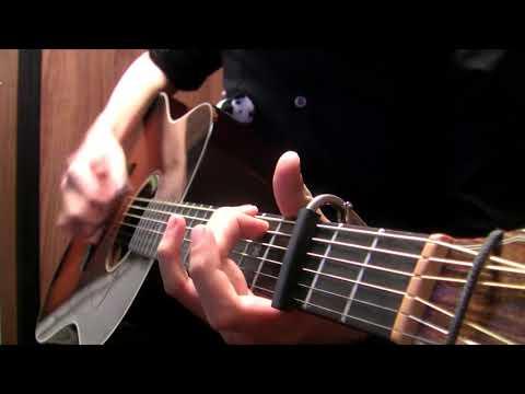 """「シュガーソングとビターステップ」誰でも弾けるようにアコギでアレンジしてみた """"Sugar Song to Bitter Step"""" solo guitar by Osamuraisan"""