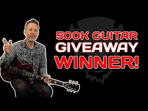 500K Guitar Giveaway Winner!