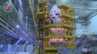 На космодроме Байконур прошла контрольная «примерка» ТПК «Союз МС-08»