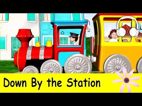 Down By The Station | Family Sing Along - Muffin Songs