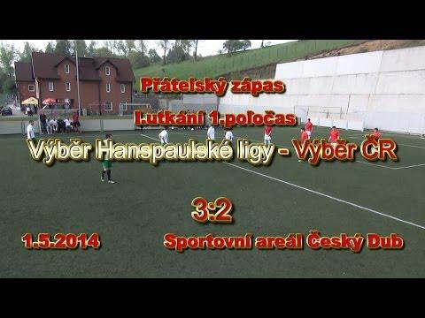 Hanspaulská liga - Výběr ČR 3:2 (1.zápas 1.poločas) - Český Dub