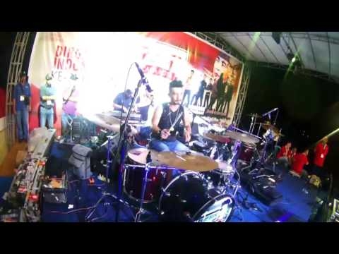 Hijau Daun With Rio Star Live Concert Timika Papua - Setiap Detik - Drum Cam