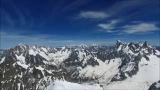 Aiguille du midi / Mont-Blanc - Drone view