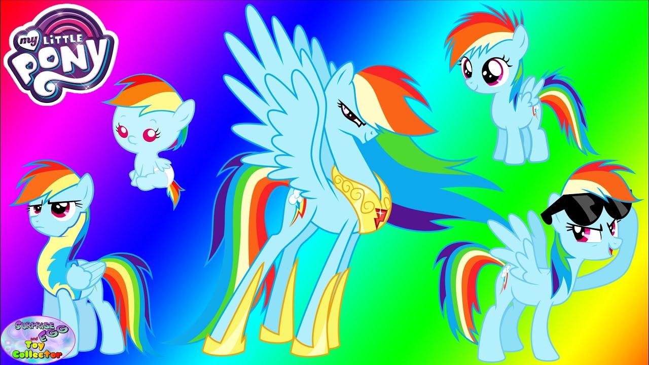 my little pony transforms dash baby princess surprise