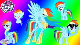 My Little Pony Transforms Rainbow Dash Baby Princess Coloring Surprise Egg and Toy Collector SETC