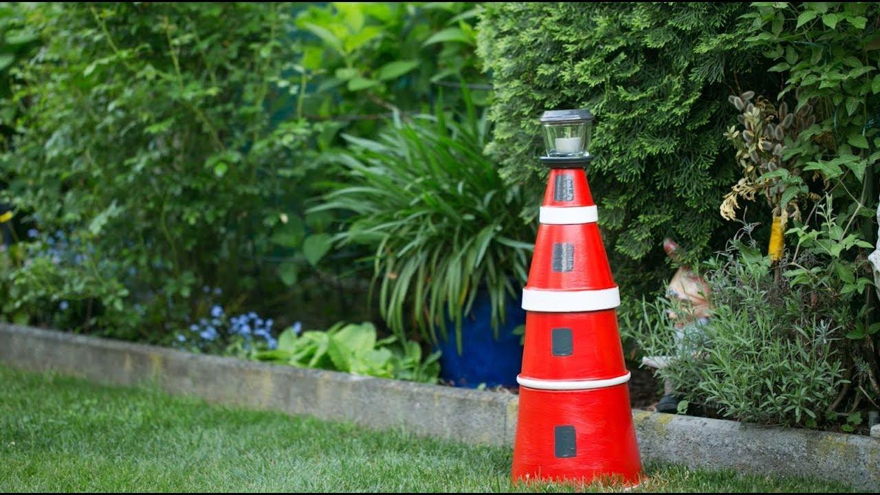 Gartengeheimnisse Diy Tontopf Leuchtturm