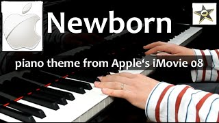 Apple iMovie piano theme: Newborn
