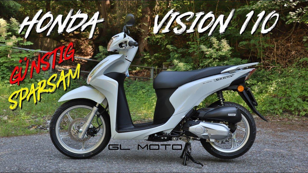 2019 Honda Vision 110 Gunstig Sparsam Der Ideale Roller Youtube