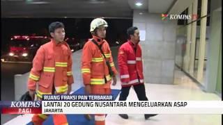 Ruangan Fraksi PAN di DPR Terbakar