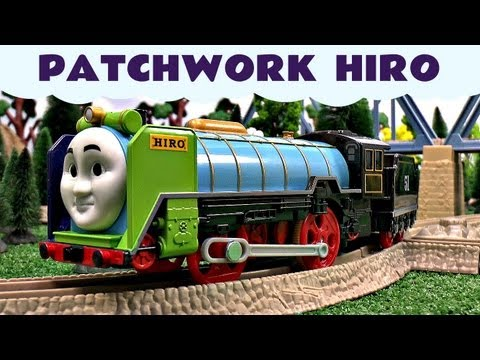 Patchwork Hiro Thomas The Tank Engine  Motorized Kids Toy Train Set Thomas The Tank Engine